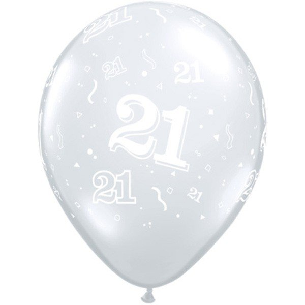Qualatex 11 Inch Clear Latex Balloon - 21 Around