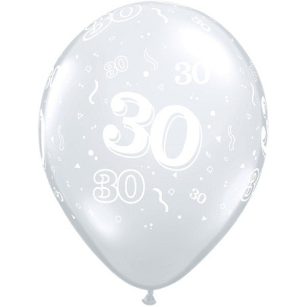 Qualatex 11 Inch Clear Latex Balloon - 30 Around