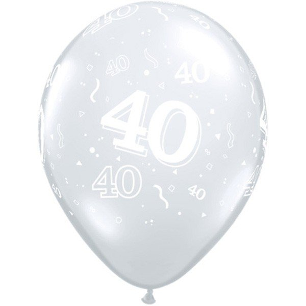 Qualatex 11 Inch Clear Latex Balloon - 40 Around