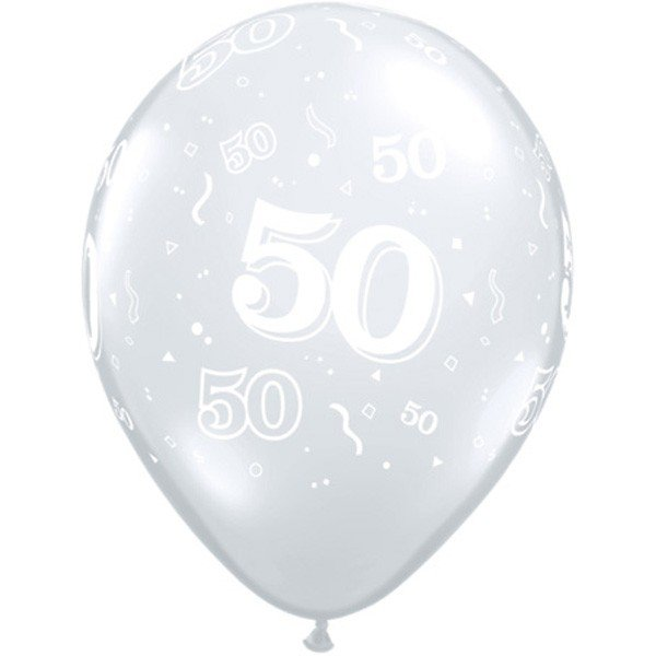 Qualatex 11 Inch Clear Latex Balloon - 50 Around