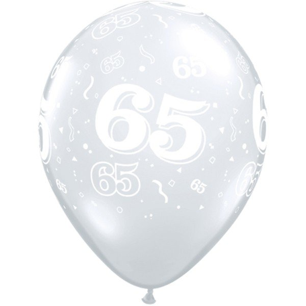 Qualatex 11 Inch Clear Latex Balloon - 65 Around