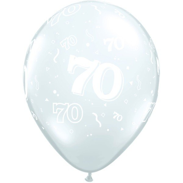 Qualatex 11 Inch Clear Latex Balloon - 70 Around