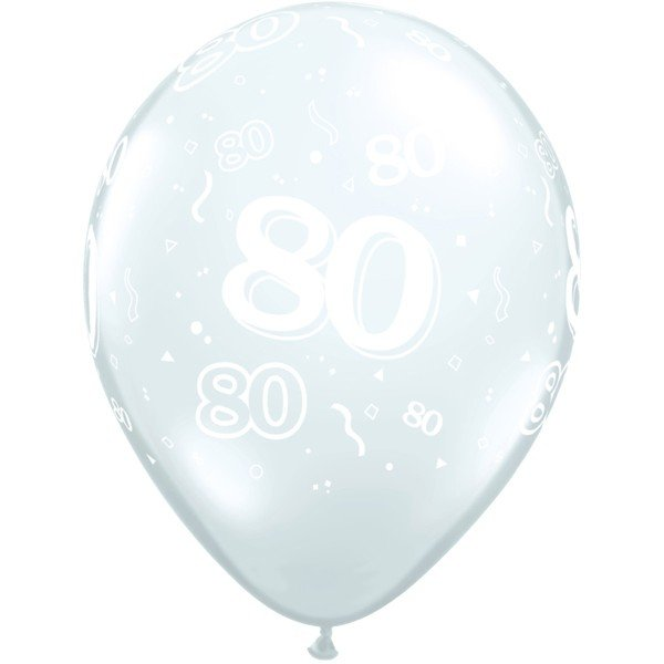Qualatex 11 Inch Clear Latex Balloon - 80 Around