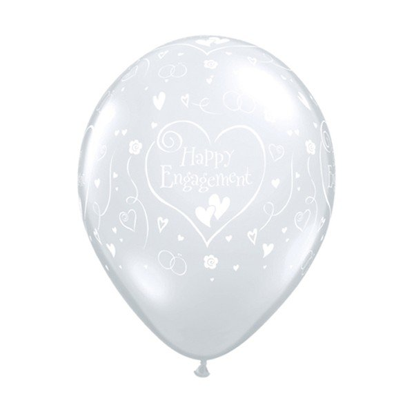 Qualatex 11 Inch Clear Latex Balloon - Hearts