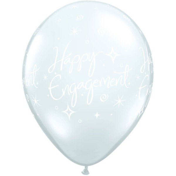 Qualatex 11 Inch Clear Latex Balloon - Sparkles