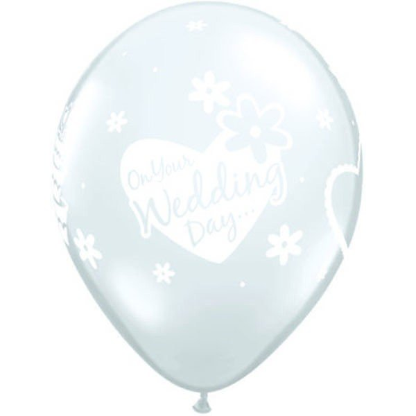 Qualatex 11 Inch Clear Latex Balloon - Wedding Day