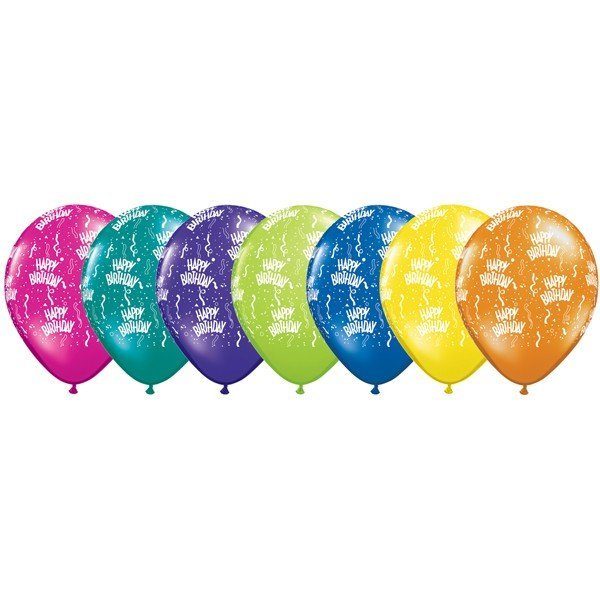 Qualatex 11 Inch Fantasy Latex Balloon - Birthday
