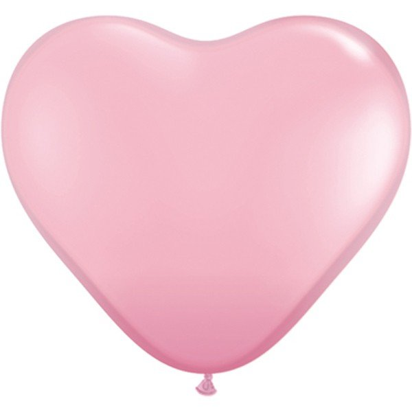 Qualatex 11 Inch Heart Latex Balloon - Pink