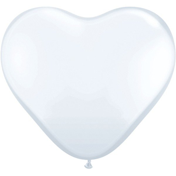 Qualatex 11 Inch Heart Latex Balloon - White