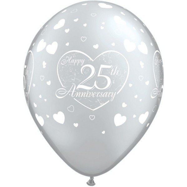 Qualatex 11 Inch Latex Balloon - 25th Anniversary