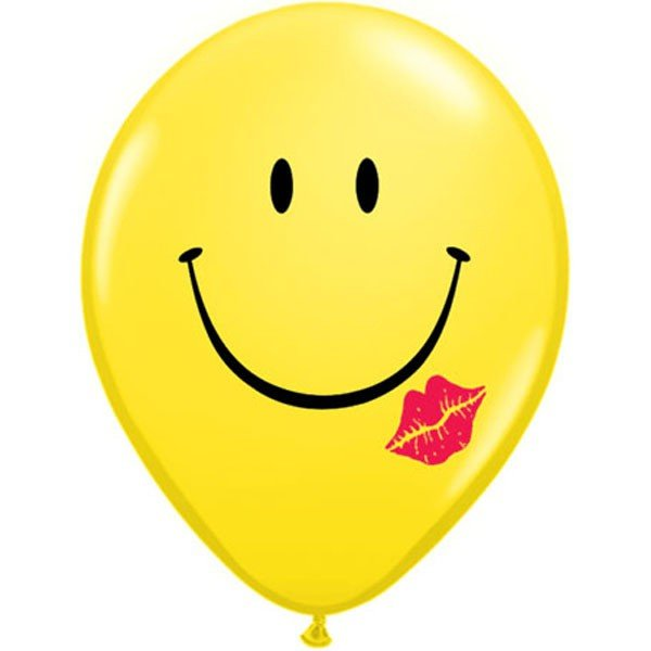 Qualatex 11 Inch Latex Balloon - A Smile A Kiss