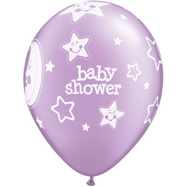 Qualatex 11 Inch Latex Balloon - Baby Moons Stars