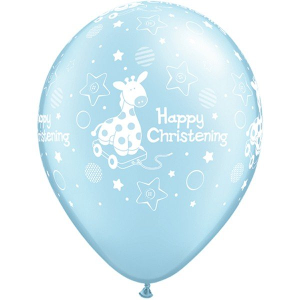 Qualatex 11 Inch Latex Balloon - Christening Soft Giraffe