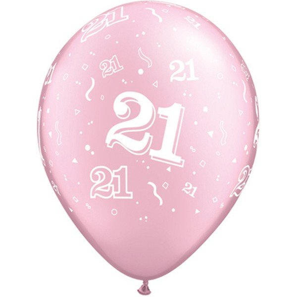 Qualatex 11 Inch Pink Latex Balloon - 21 Around