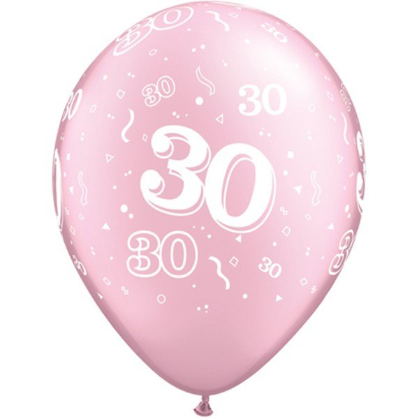 Qualatex 11 Inch Pink Latex Balloon - 30 Around
