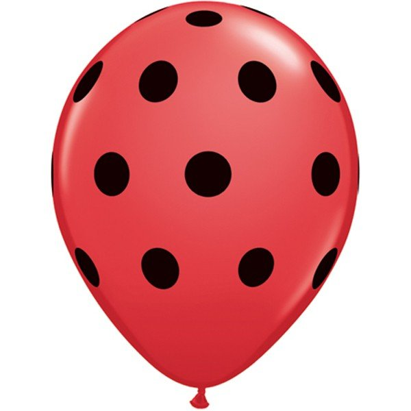 Qualatex 11 Inch Red Latex Balloon - Big Polka