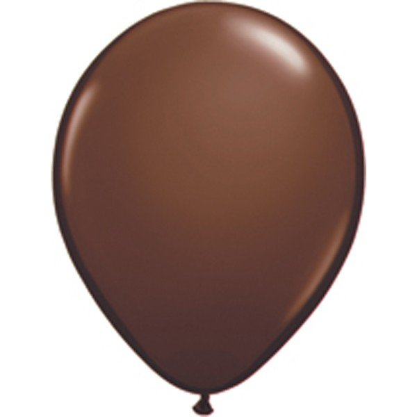 Qualatex 11 Inch Round Plain Latex Balloon - Chocolate Brown
