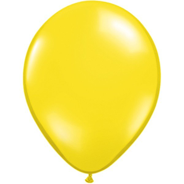 Qualatex 11 Inch Round Plain Latex Balloon - Citrine Yellow