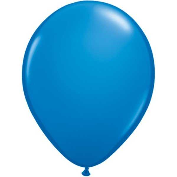 Qualatex 11 Inch Round Plain Latex Balloon - Dark Blue