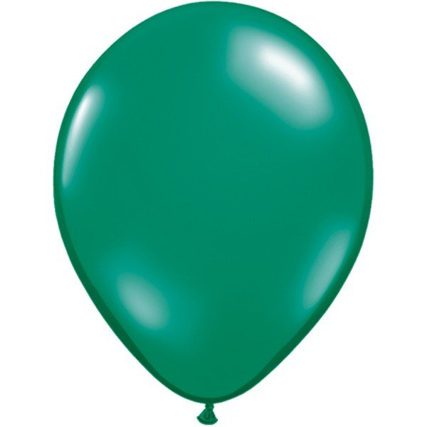 Qualatex 11 Inch Round Plain Latex Balloon - Emerald Green