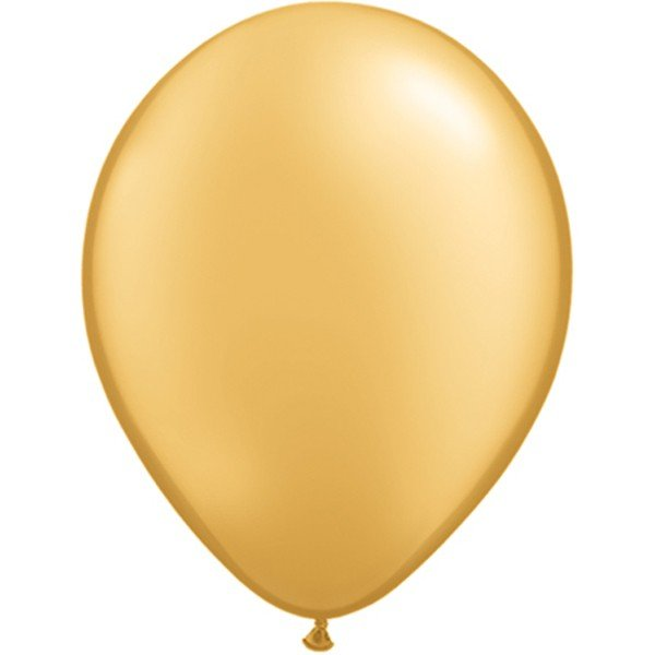 Qualatex 11 Inch Round Plain Latex Balloon - Gold