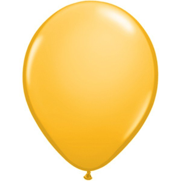 Qualatex 11 Inch Round Plain Latex Balloon - Goldenrod