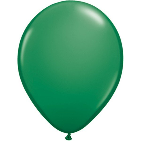 Qualatex 11 Inch Round Plain Latex Balloon - Green