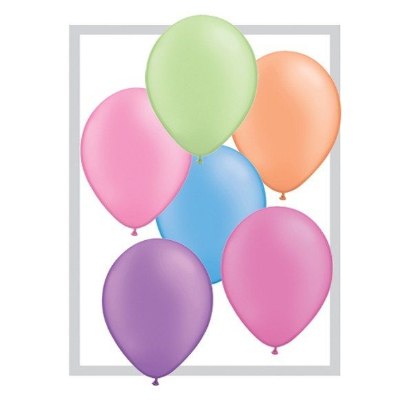 Qualatex 11 Inch Round Plain Latex Balloon - Neon Assortment