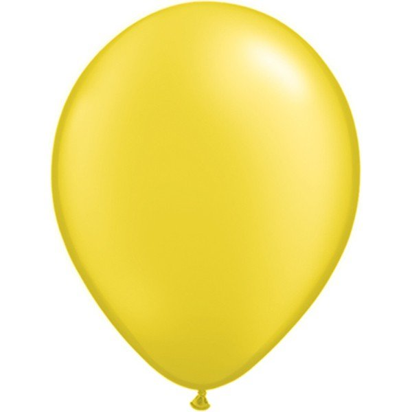 Qualatex 11 Inch Round Plain Latex Balloon - Pearl Citrine