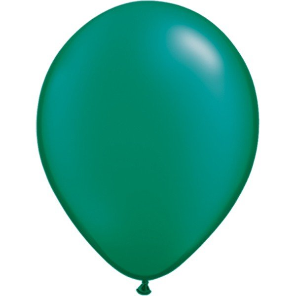 Qualatex 11 Inch Round Plain Latex Balloon - Pearl Emerald