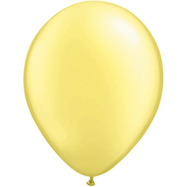 Qualatex 11 Inch Round Plain Latex Balloon - Pearl Lemon