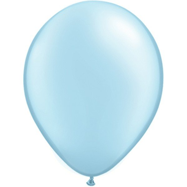 Qualatex 11 Inch Round Plain Latex Balloon - Pearl Light Blue