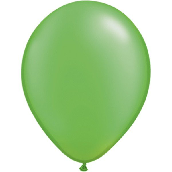 Qualatex 11 Inch Round Plain Latex Balloon - Pearl Lime Green