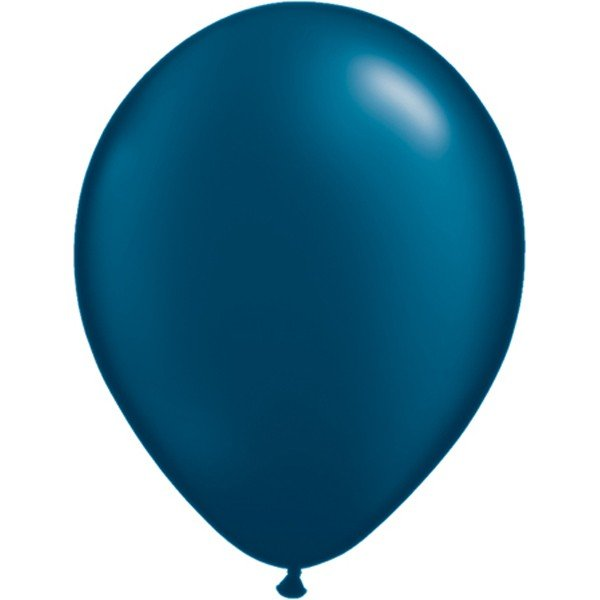 Qualatex 11 Inch Round Plain Latex Balloon - Pearl Midnight Blue