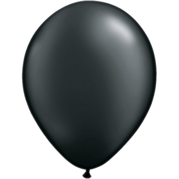 Qualatex 11 Inch Round Plain Latex Balloon - Pearl Onyx Black