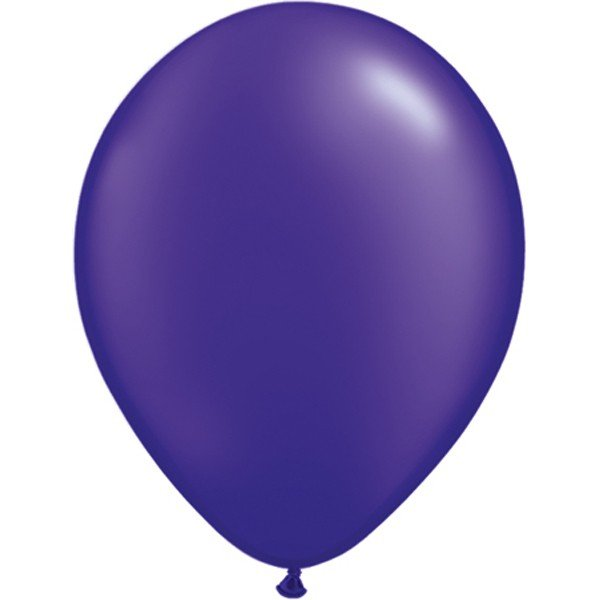 Qualatex 11 Inch Round Plain Latex Balloon - Pearl Quartz Purple