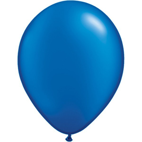 Qualatex 11 Inch Round Plain Latex Balloon - Pearl Sapphire