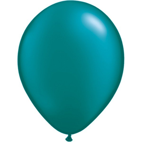 Qualatex 11 Inch Round Plain Latex Balloon - Pearl Teal