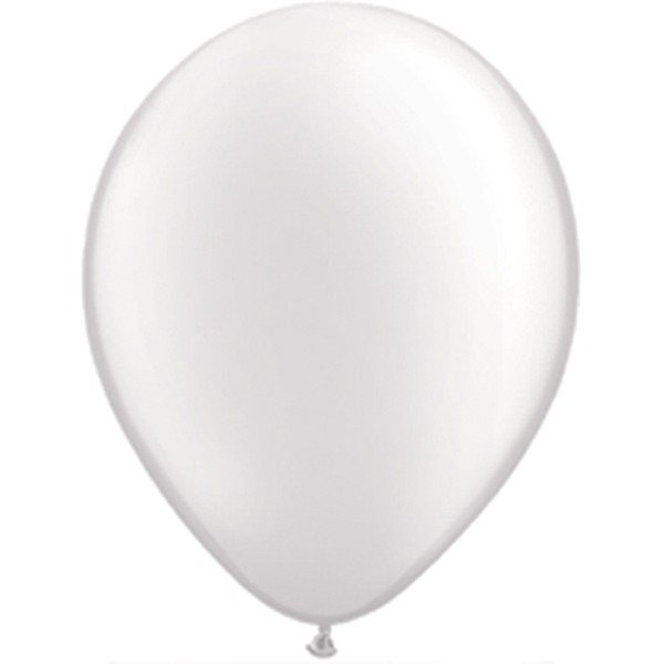 Qualatex 11 Inch Round Plain Latex Balloon - Pearl White