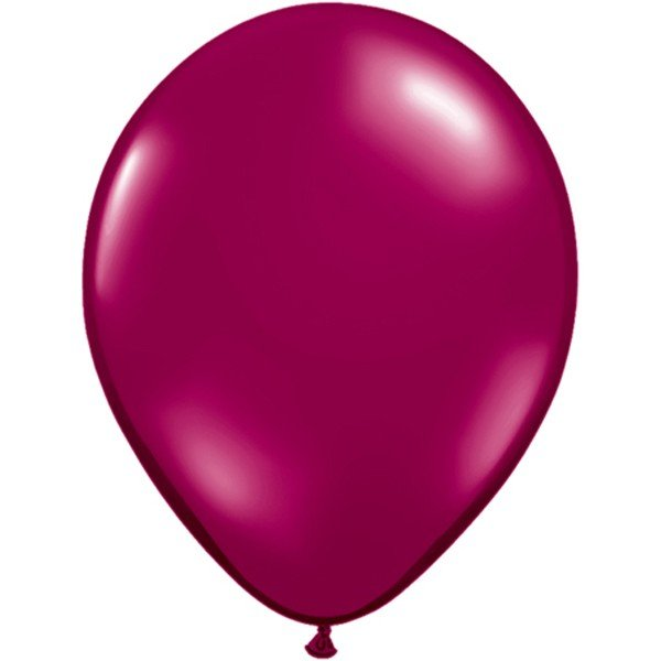 Qualatex 11 Inch Round Plain Latex Balloon - Sparkling Burgundy