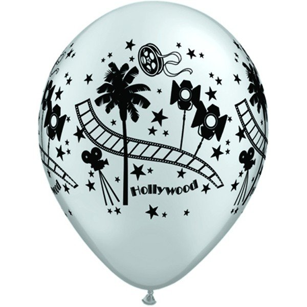 Qualatex 11 Inch Silver Latex Balloon - Hollywood