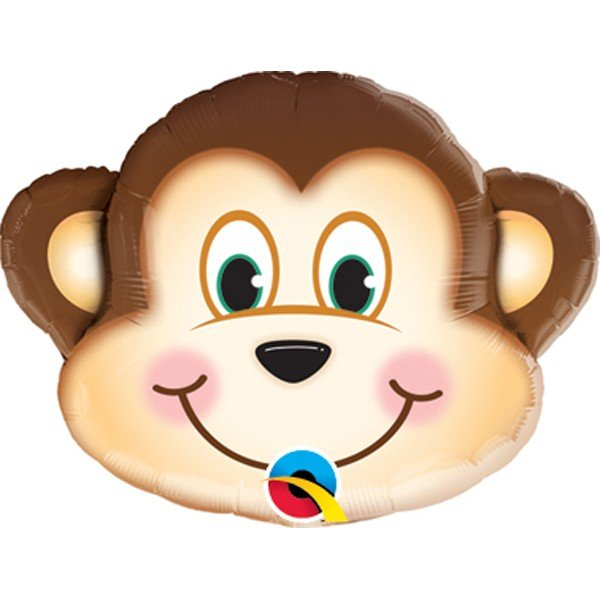 Qualatex 14 Inch Shaped Foil Balloon - Mischievous Monkey