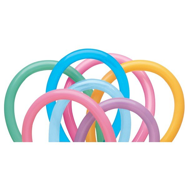 Qualatex 160Q Plain Latex Balloon - Vibrant Assortment