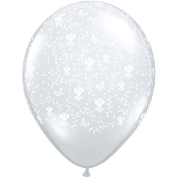 Qualatex 16 Inch Clear Latex Balloon - Flowers