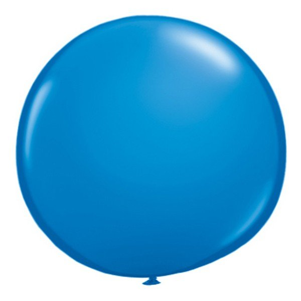 Qualatex 16 Inch Round Plain Latex Balloon - Dark Blue