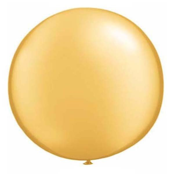 Qualatex 16 Inch Round Plain Latex Balloon - Gold