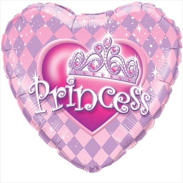 Qualatex 18 Inch Heart Foil Balloon - Princess Taira