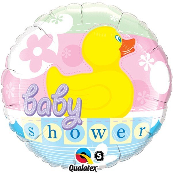 Qualatex 18 Inch Round Foil Balloon - Baby Shower Rubber Duckie
