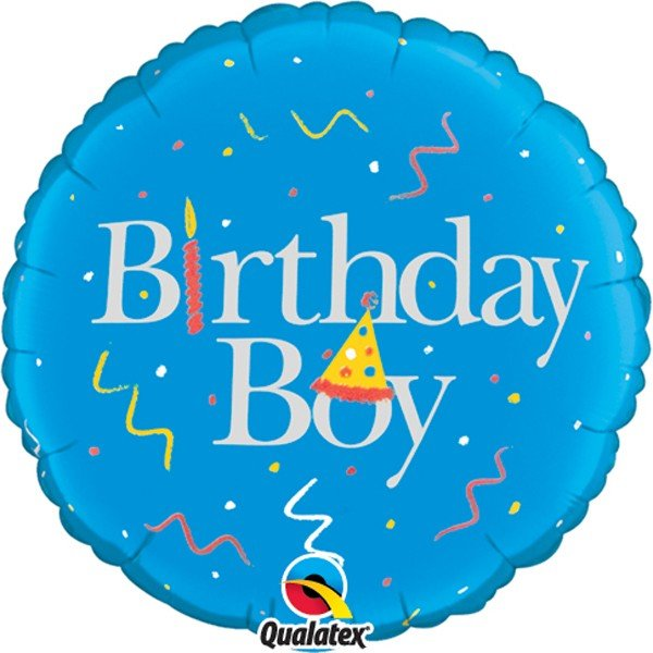 Qualatex 18 Inch Round Foil Balloon - Birthday Boy