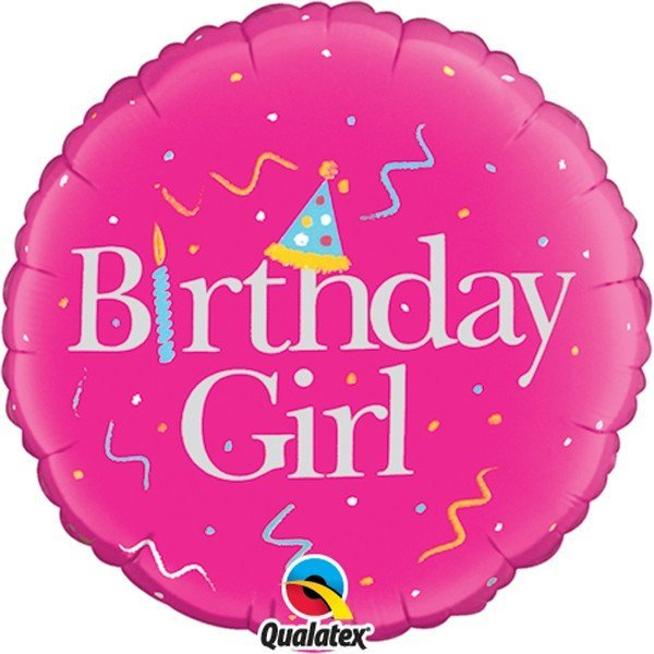 Qualatex 18 Inch Round Foil Balloon - Birthday Girl